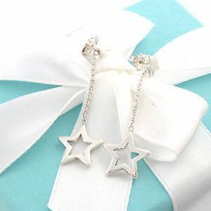 Authentic Rare Tiffany Lariat Drop Star Earrings